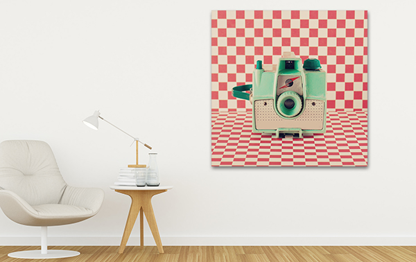 Camera Canvas Art Print on the wall