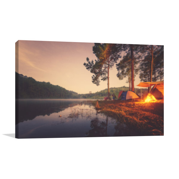 Camping And Tent Canvas Art Prints