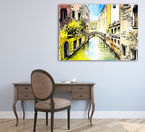 Canal in Venice Canvas Art on the Wall