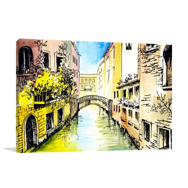 Canal in Venice Canvas Art