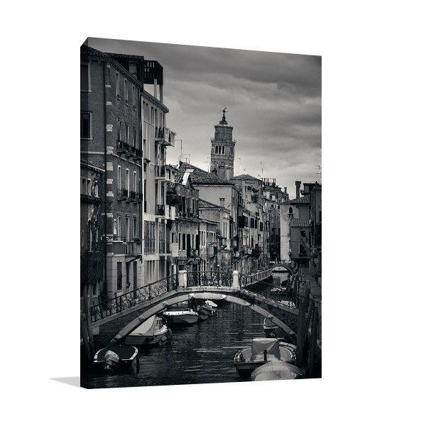 Canal View Of Venice Canvas Prints