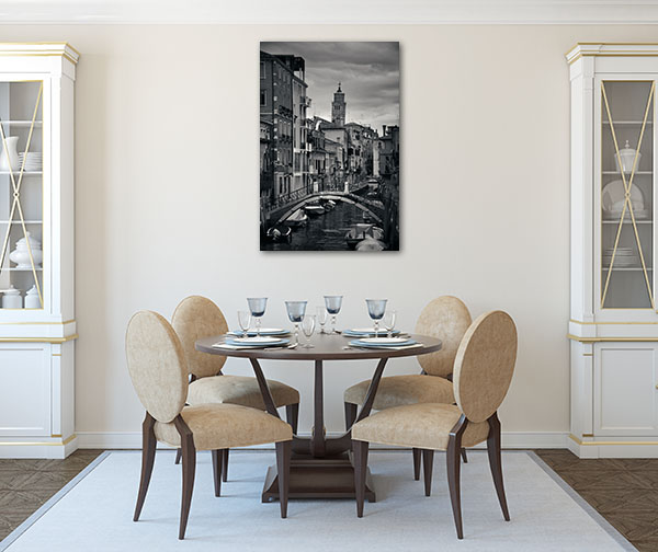 Canal View Of Venice Prints Canvas