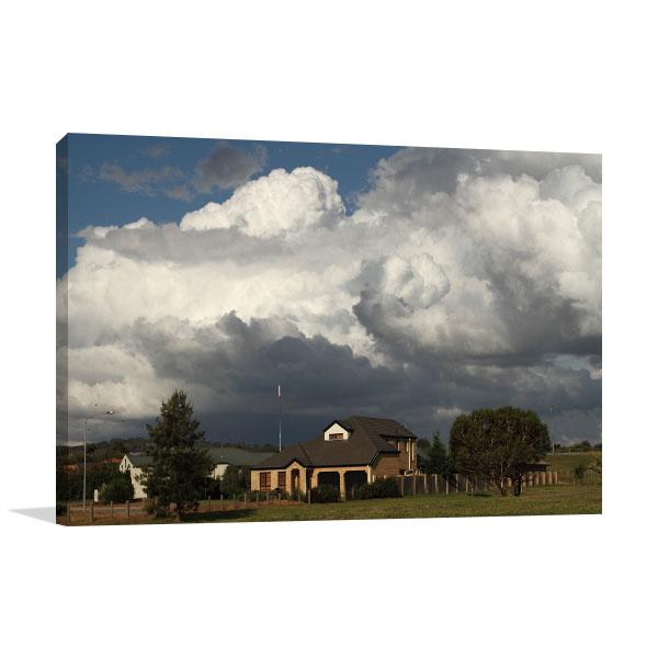 Canberra Art Print Turbulent Sky