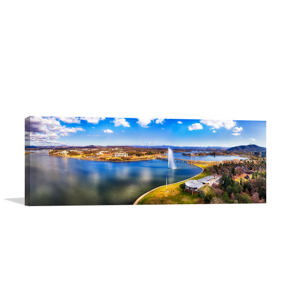 Canberra Canvas Art Print Lake Burley Griffin