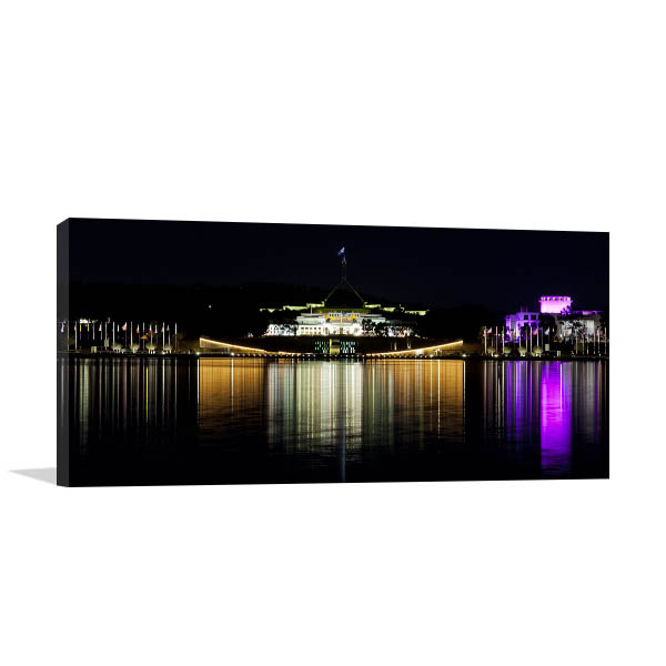 Canberra Skyline Reflection Artwork
