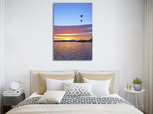 Canberra Two Hot Air Balloon Prints Canvas