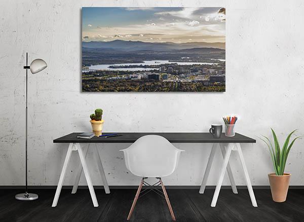 Capital Canberra City Canvas Prints