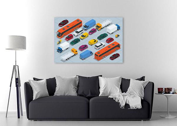 Car Icons Canvas Prints