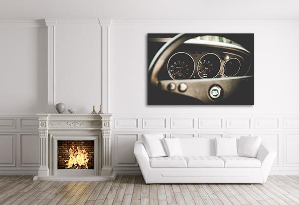 Car Mileage Art Print on the wall