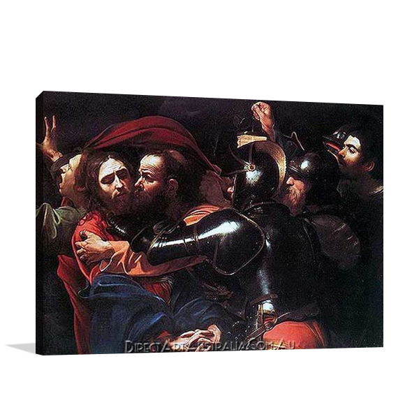 Caravaggio   The Taking of Christ   Hand Paint