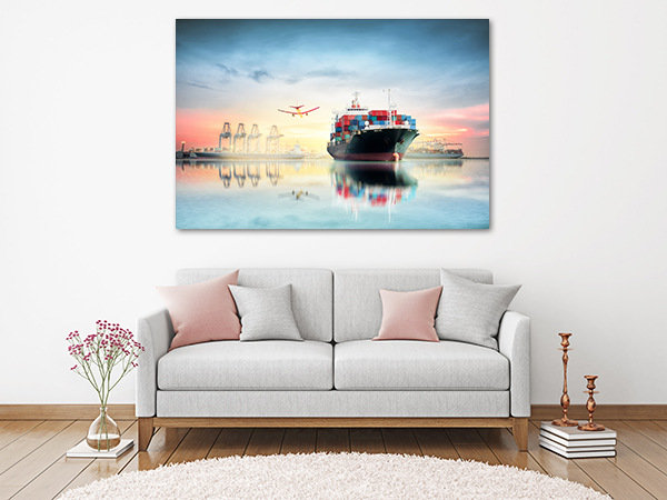 Cargo Canvas Art Print on the wall
