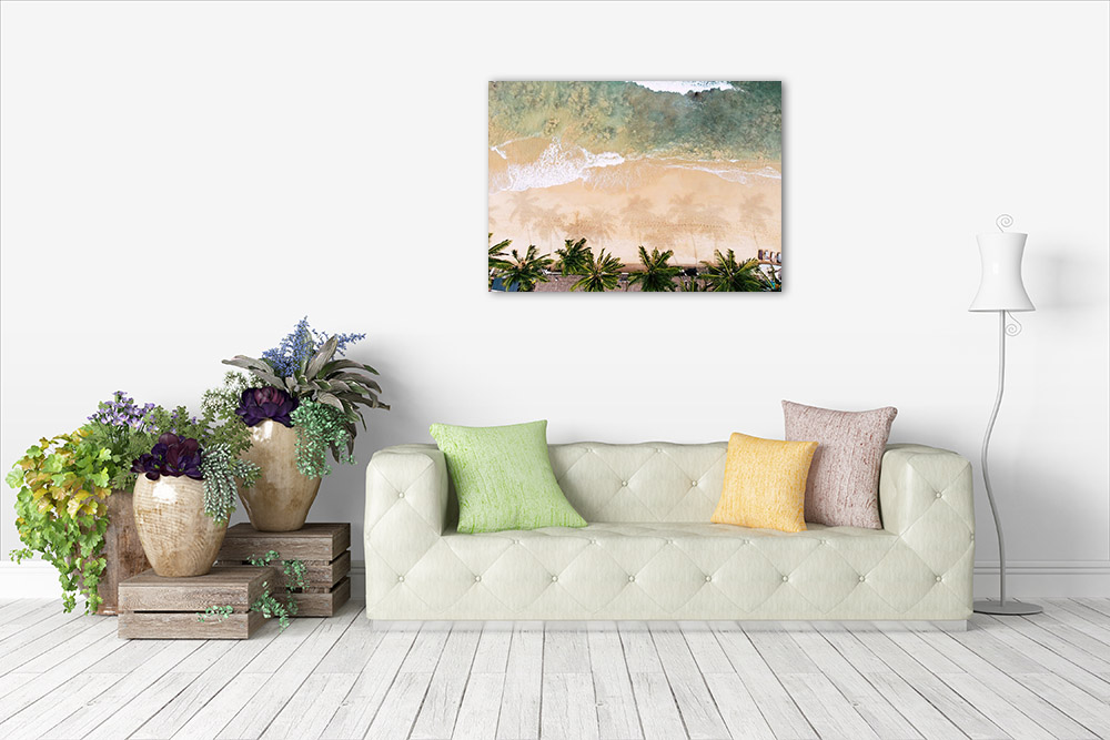Palm Trees Beach Canvas Print