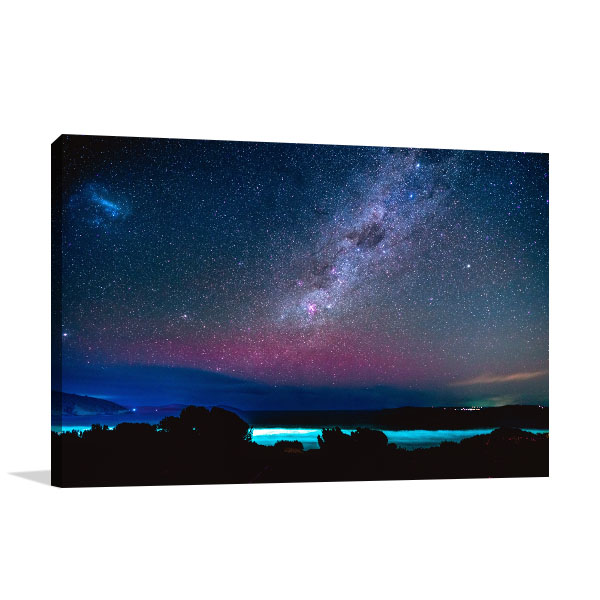 Carlton Beach Art Print Southern Lights