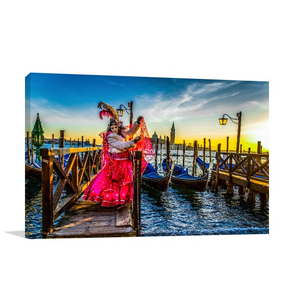 Carnival Venice Costume Art Prints