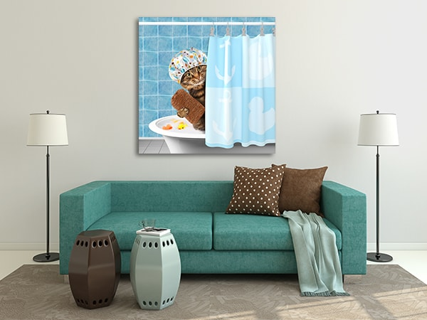 Cat Grooming Canvas Prints