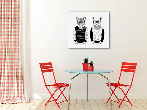 Cats As Fashion Models Canvas Prints