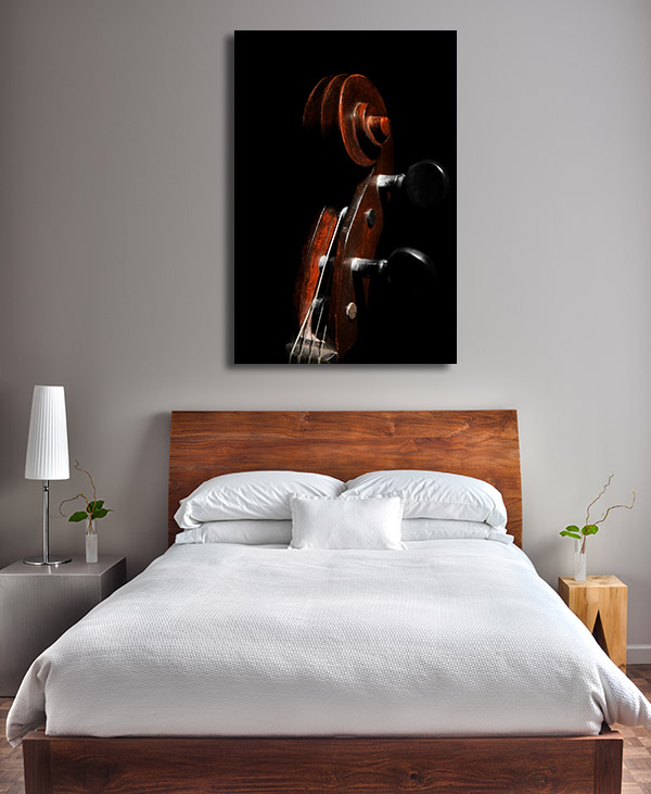 Cello Closeup Canvas Art Prints