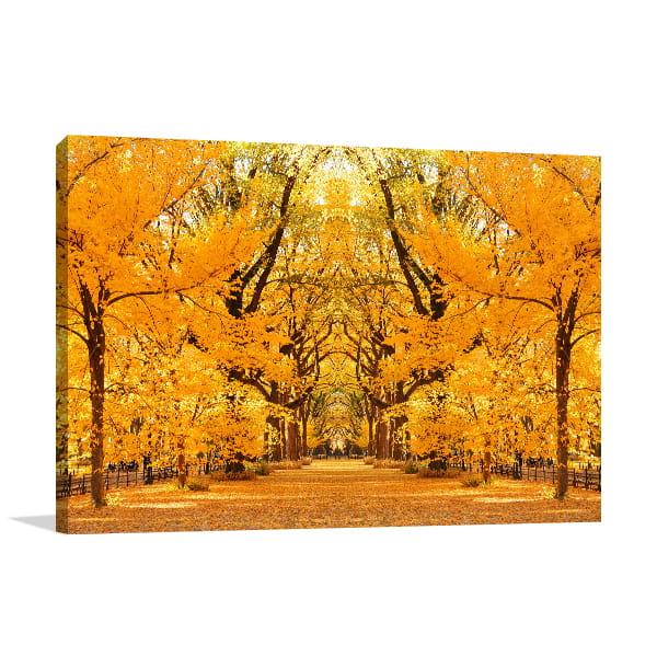 Central Park Autumn Wall Art