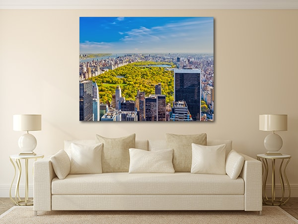 Central Park Skyline Canvas Prints