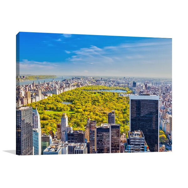 Central Park Skyline Canvas Art Prints