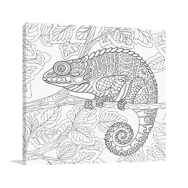 Chameleon Design Canvas Art Prints