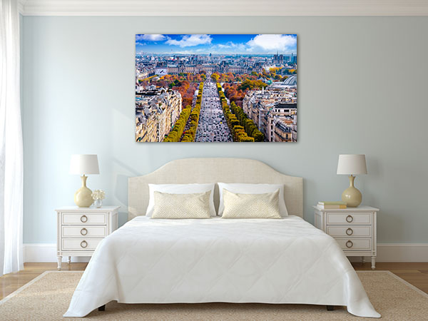 Champs-Elysees Cityscape Prints Canvas