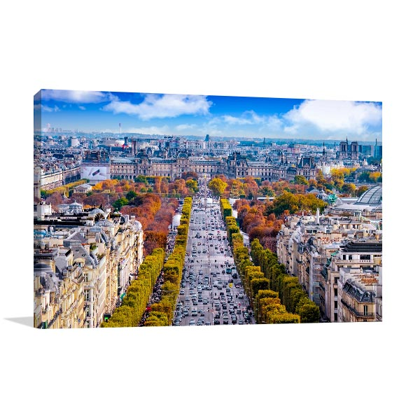 Champs-Elysees Cityscape Print Artwork