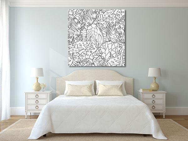 Chaotic Shapes Canvas Prints