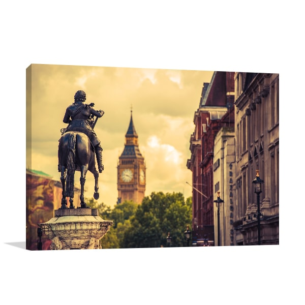Charles Statue Canvas Art Prints