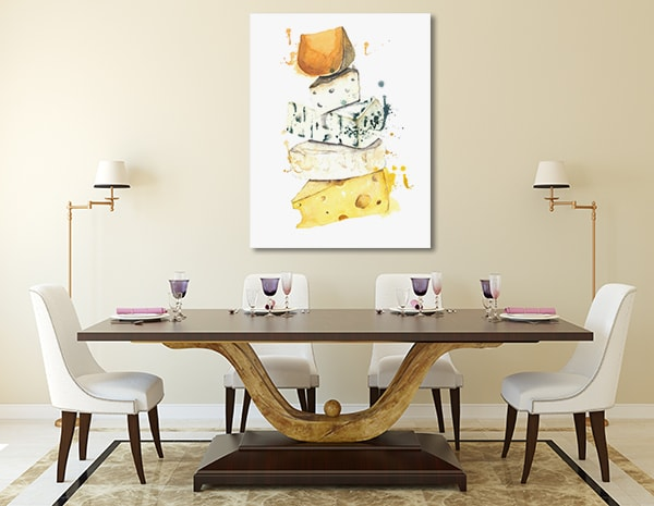 Cheese Stack Prints Canvas