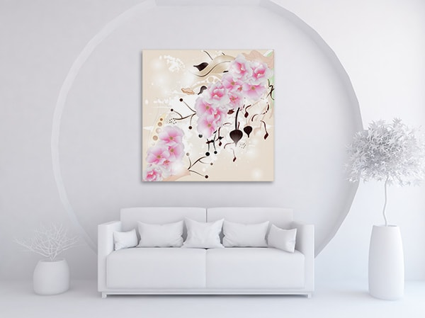 Cherry Blossom Canvas Art on the Wall