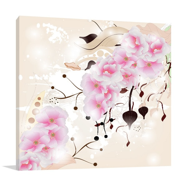 Cherry Blossom Wall Canvas