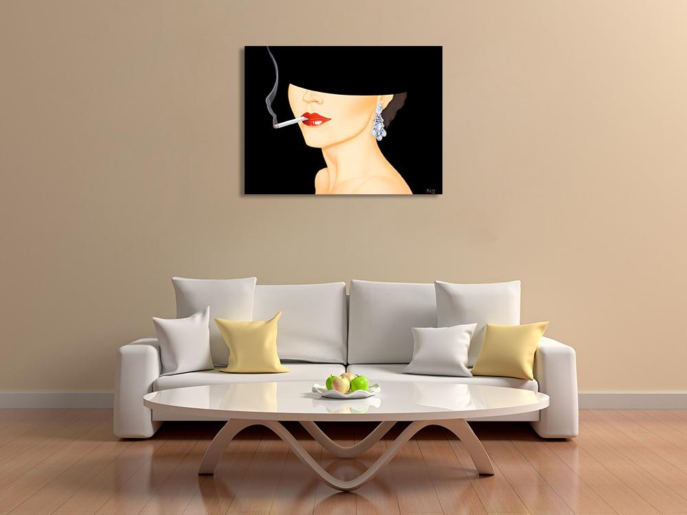 Figurative Fashion Canvas Wall Print