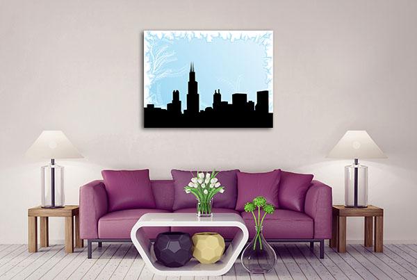 Chicago City On Winter Canvas Art