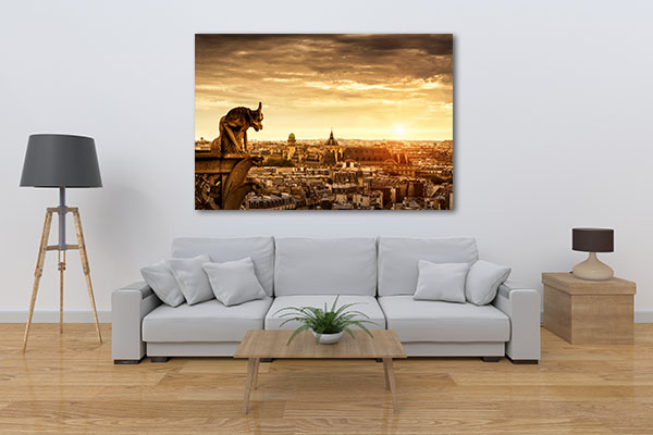 Chimera Cathedral Notre Dame Prints Canvas