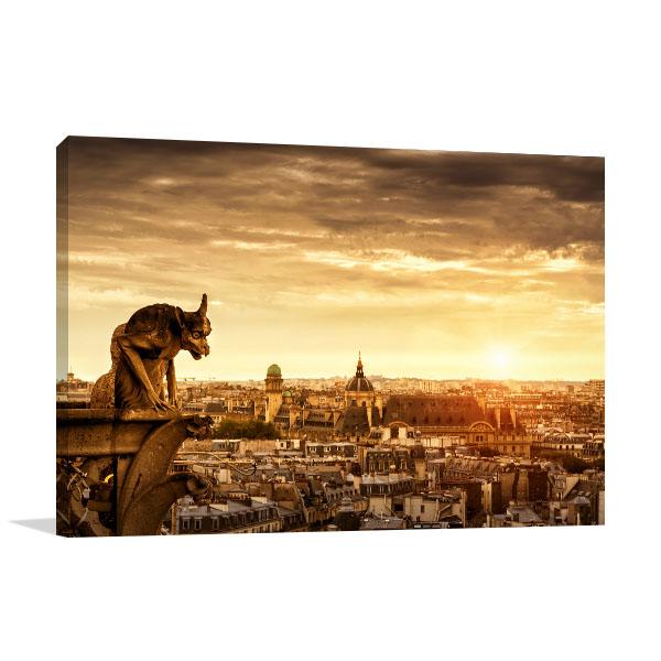 Chimera Cathedral Notre Dame Canvas Art Prints