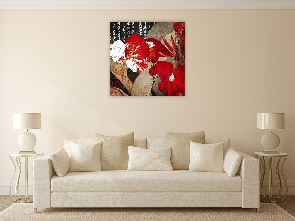 Red Still Life Art Print on Canvas