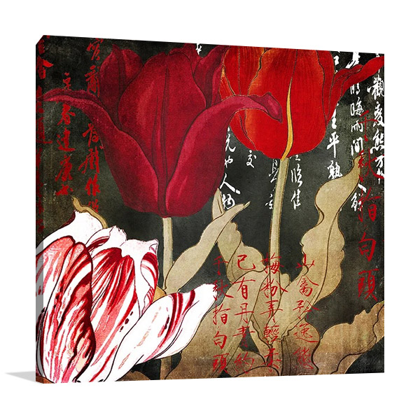 China Red II Print on Canvas