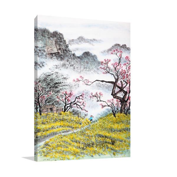 Chinese Autumn Landscape Canvas Prints