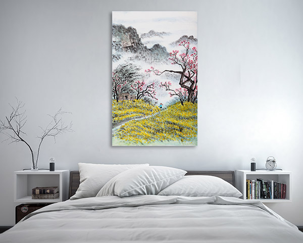 Chinese Autumn Landscape Canvas Art