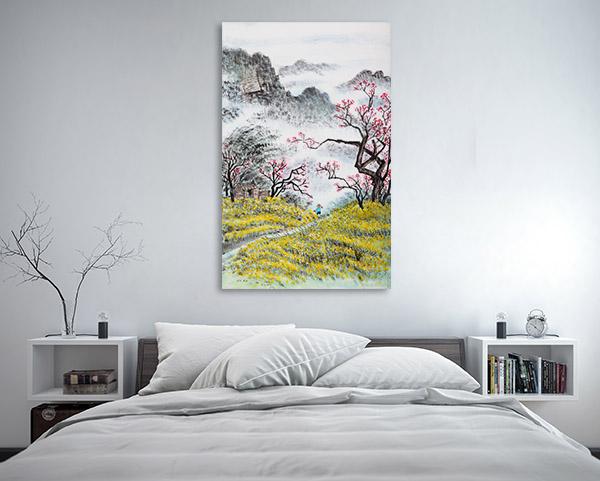 Chinese Autumn Landscape Canvas Art