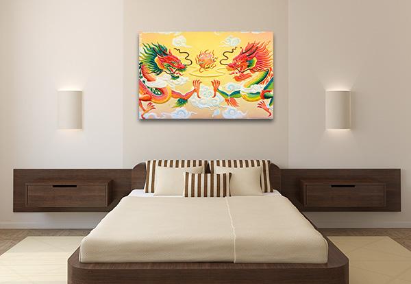 Chinese Dragon Print Artwork
