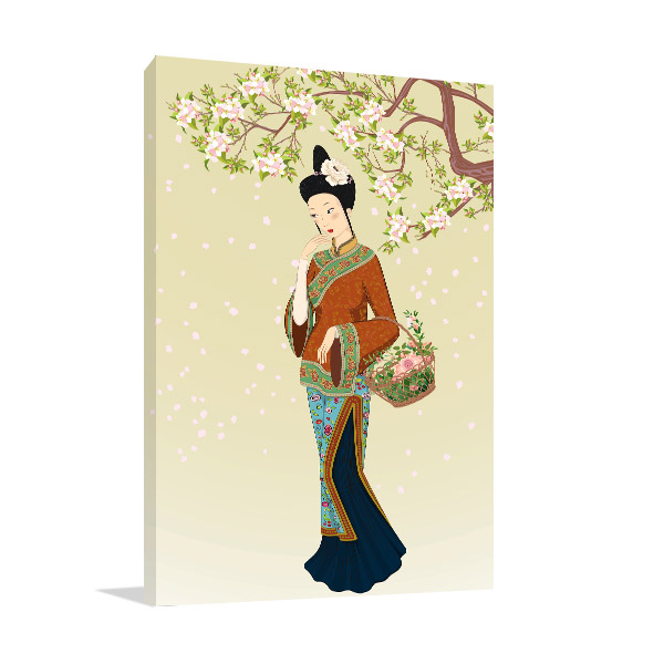 Chinese Ethnicity Woman Artwork