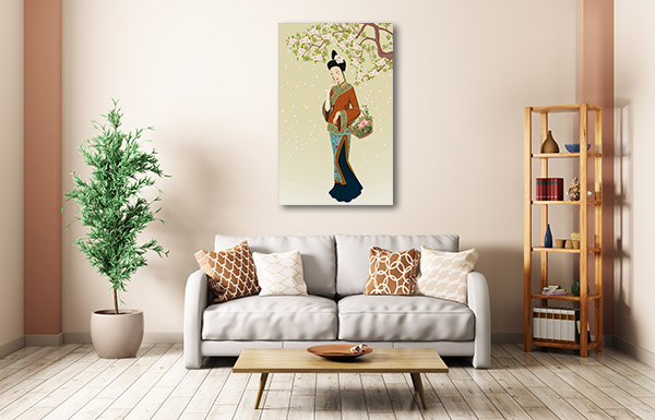 Chinese Ethnicity Woman Canvas Art