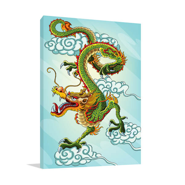 Chinese Green Dragon Artwork