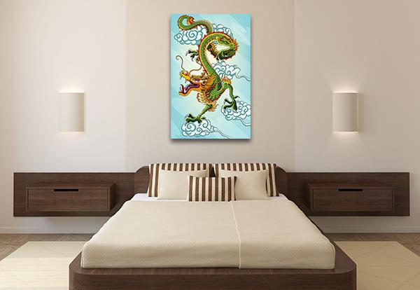 Chinese Green Dragon Wall Art