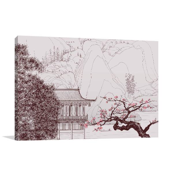 Chinese Landscape Style Wall Art