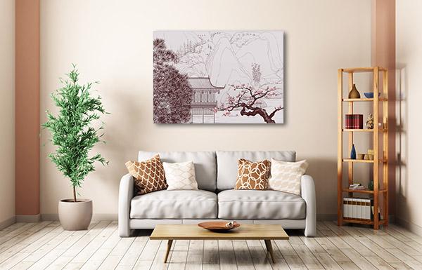 Chinese Landscape Style Canvas Art