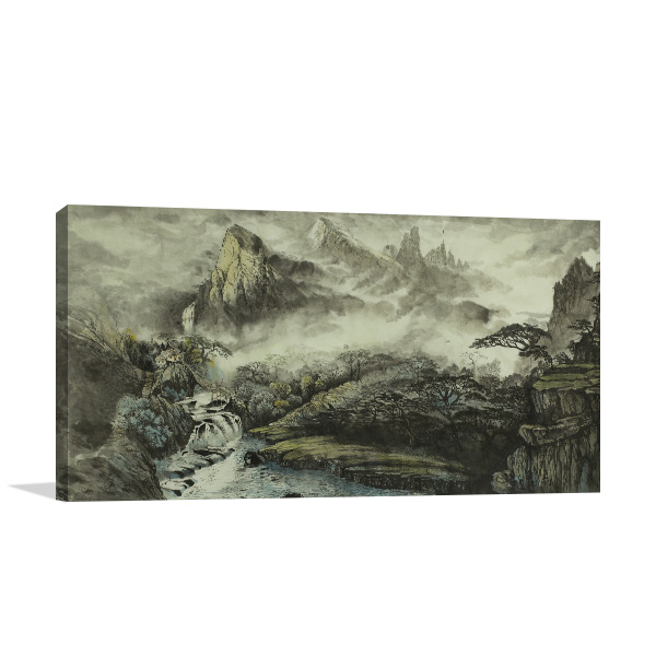 Chinese Mountains Prints Canvas