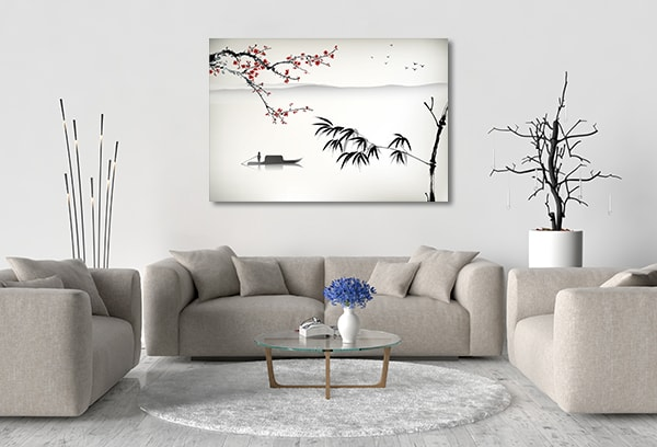 Chinese River Prints Canvas